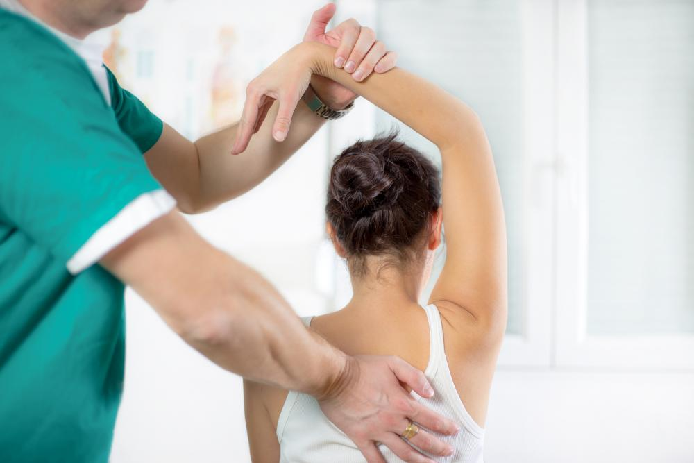 Woman receiving Chiropractic care.
